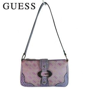 GUESS Pink Purple Small Barrel Purse logo Hand Bag